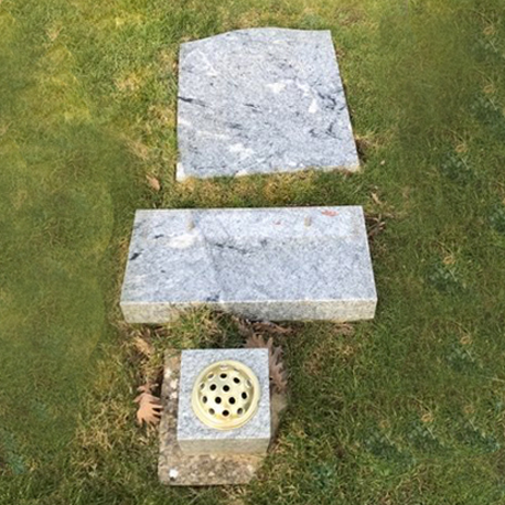 faulty headstone installation